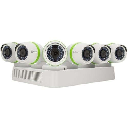 EZVIZ - 8-Channel, 6-Camera Indoor/Outdoor Wired 1080p 2TB DVR Surveillance System