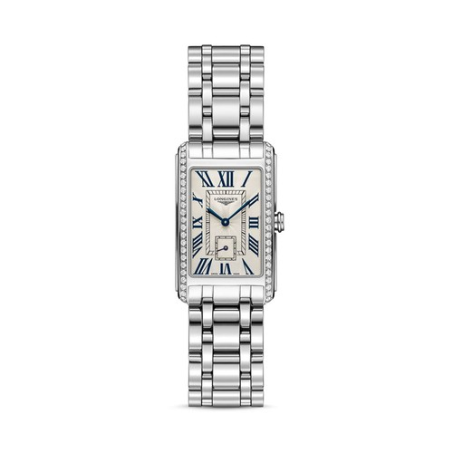 Stainless Steel Watch with Diamonds, 37mm