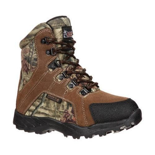 Children's Rocky 7in Hunting Insulated WP Boot 3710 Brown/Mossy Oak Infinity Leather