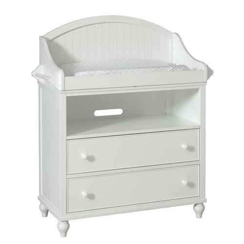 Somerset White MDF/Metal/Wood 6-drawer Changing Dresser