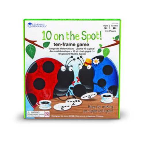 Learning Resources 10 On The Spot Ten Frame Game