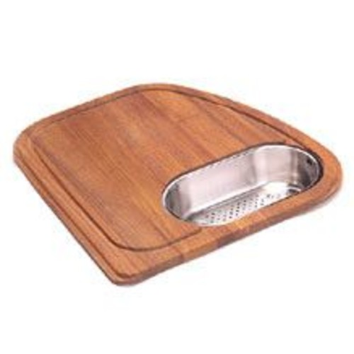 Franke Vision Wood Cutting Board w/ Stainless Steel Colander in Teak