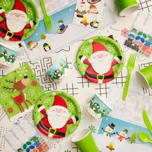 Creative Converting Snowflake Fun Christmas Kids Table Kit