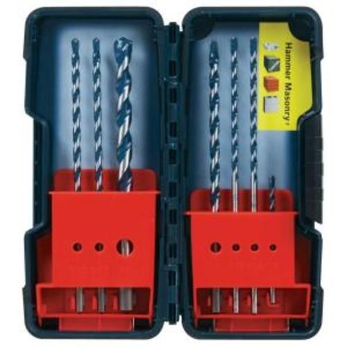 Bosch Assortment Pack of BlueGranite Turbo Carbide Hammer Drill Bits (7-Piece)