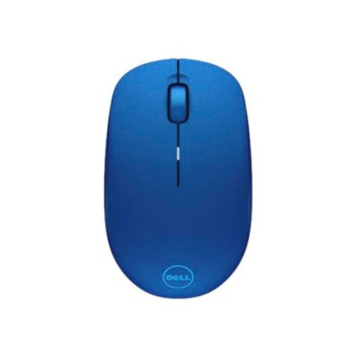 Dell WM126 - Mouse - optical - 3 buttons - wireless - 2.4 GHz - USB wireless receiver - blue - for Inspiron 11 31XX, 14 3467, 15 35XX; Latitude 7390 2-in-1 (WM126-BU)