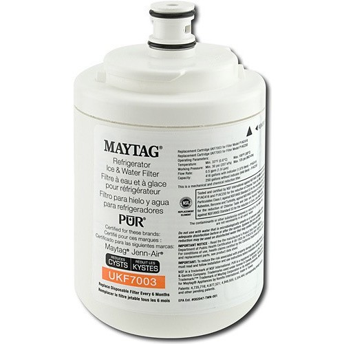 Maytag UKF7003T PUR Puriclean Cyst-Reducing Refrigerator Water Filter, 3-Pack [3-Pack]