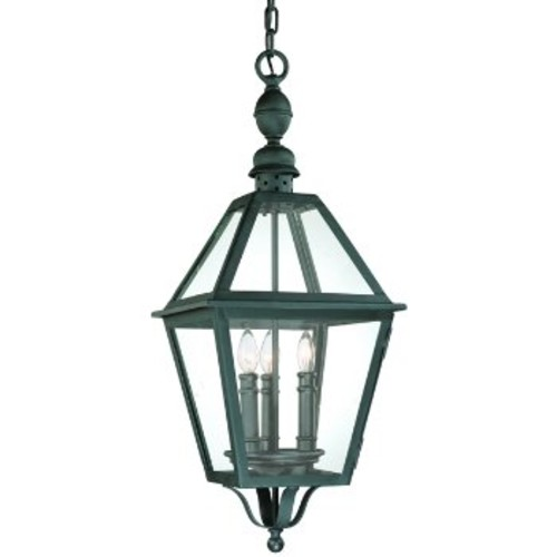 Townsend Outdoor Pendant [Glass Color : Clear; Finish : Natural Bronze]