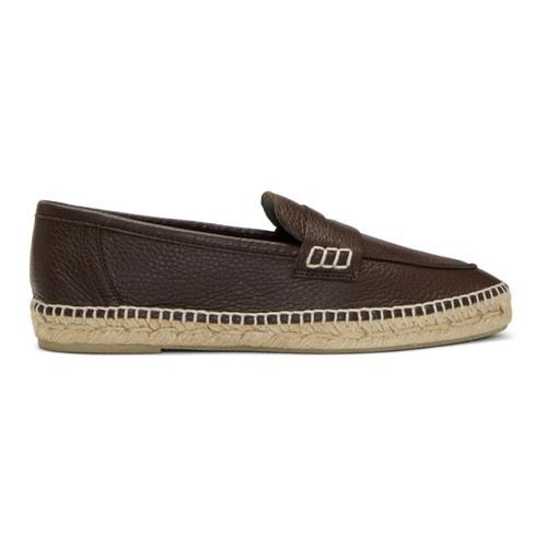 LOEWE Brown Loafer Espadrilles