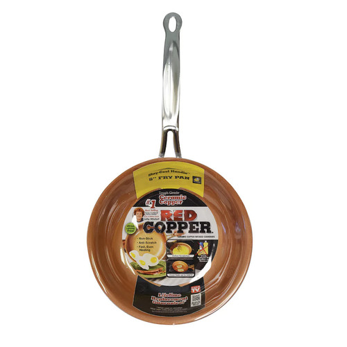Red Copper 8-inch Frypan As Seen on TV
