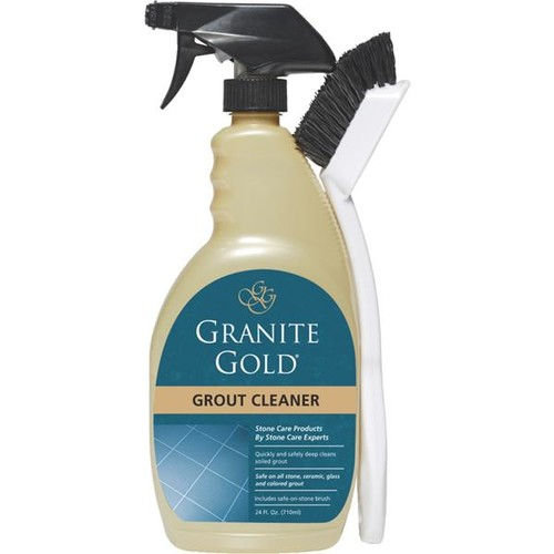 Granite Gold best grout cleaner for tile and grout with grout cleaning brush to agitate dirt and grime, 24 oz. [1]