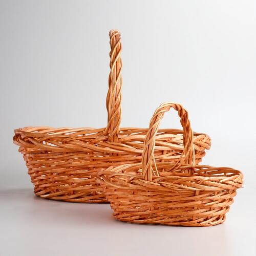 Honey Oval Willow Baskets