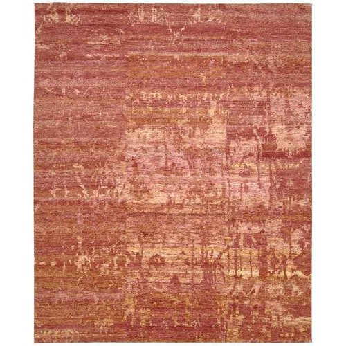 Nourison Silk Shadows Flame Rug (3'9 x 5'9)