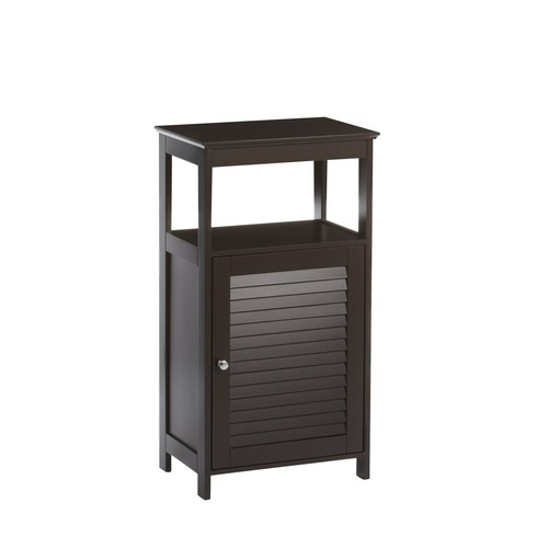 RiverRidge Home Ellsworth Collection Single Door Floor Cabinet, Espresso [Espresso, NO SIZE]