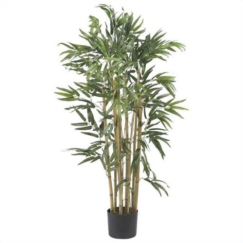 Nearly Natural 3' Multi Bambusa Bamboo Silk Tree in Green