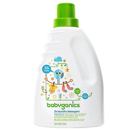 Babyganics HE 35 oz. Fragrance-Free 3x Laundry Detergent