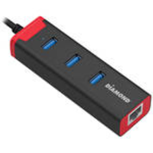 3-Port USB 3.0 SuperSpeed to Gigabit Ethernet Mini Docking Station