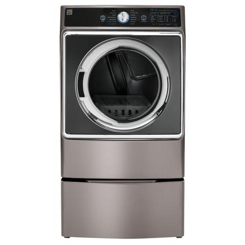 Kenmore Elite 91963 9.0 cu. ft. Front Control Gas Dryer w/ Accela Steam - Metallic Silver