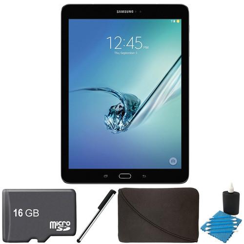 Samsung Galaxy Tab S2 9.7-inch Wi-Fi Tablet (Black/32GB) 16GB MicroSD Card Bundle