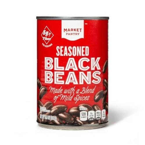 Seasoned Black Beans 15.5 oz - Market Pantry