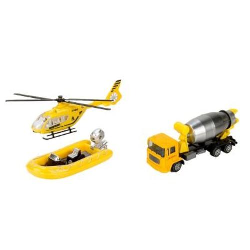 Blue Block Factory Builders Rescue Squad Stellar Diecast Play Set Yellow