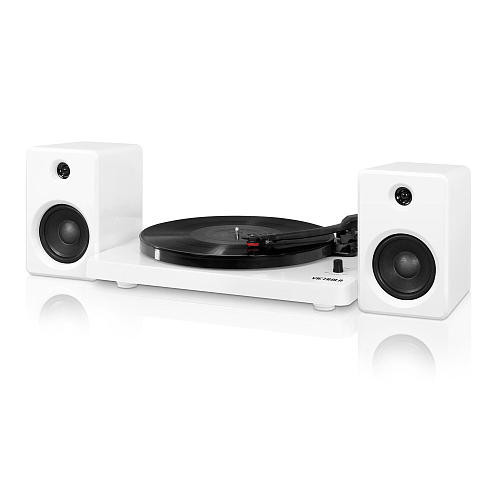 Victrola 50 Watt Record Player with Bluetooth - White