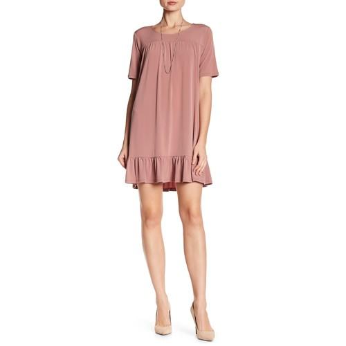 Casual Ruffle Hem Dress