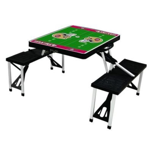 Picnic Time San Francisco 49ers Sport Plastic Outdoor Patio Picnic Table