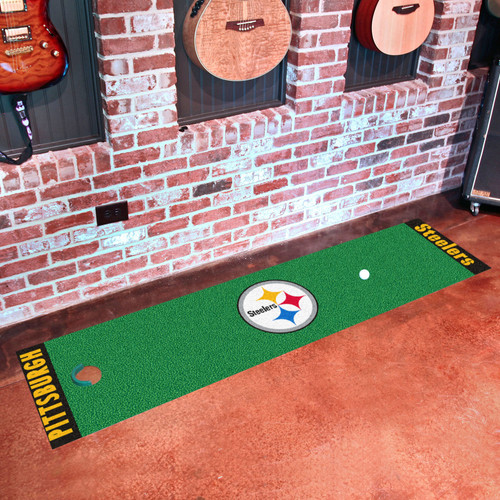 FanMats NFL Pittsburgh Steelers Putting Green Mat
