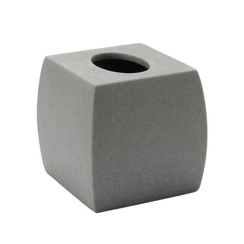 Home Classics Gray Resin Tissue Box Cover
