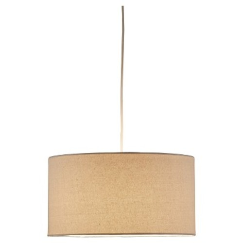 Adesso 4001-12 Harvest Drum Pendant  Lighting Fixture with Natural Linen Weave Finish, Smart Outlet Compatible Lamp. Tools and Home Improvement [Natural, Drum]