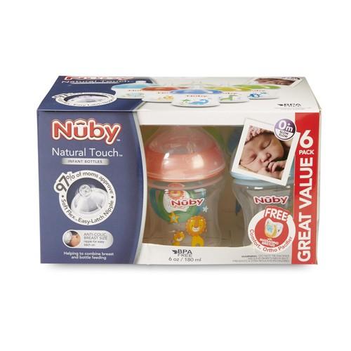 Nuby 6-Pack Infant Bottles & Pacifier