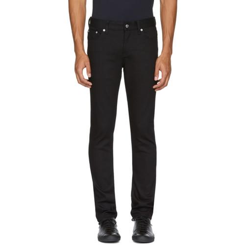 Black Skinny Taper '5' Jeans
