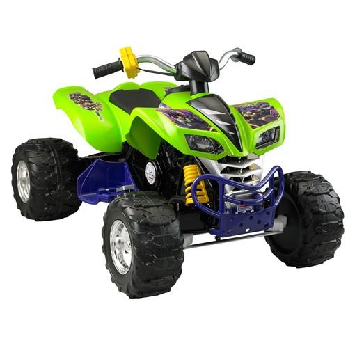 Power Wheels Teenage Mutant Ninja Turtles Kawasaki KFX 12-Volt Battery-Powered Ride-On