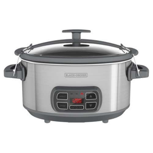 BLACK+DECKER 7qt Programmable & Digital Electric Slow Cooker With Locking Lid