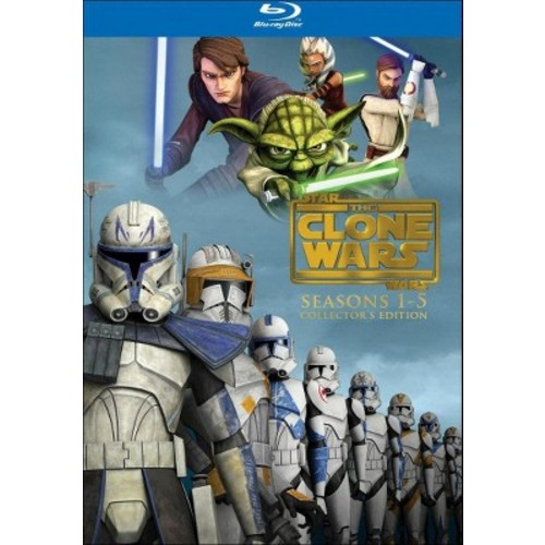 Star Wars: The Clone Wars - The Complete Seasons 1-5 [Collector's Edition] [15 Discs] [Blu-ray]