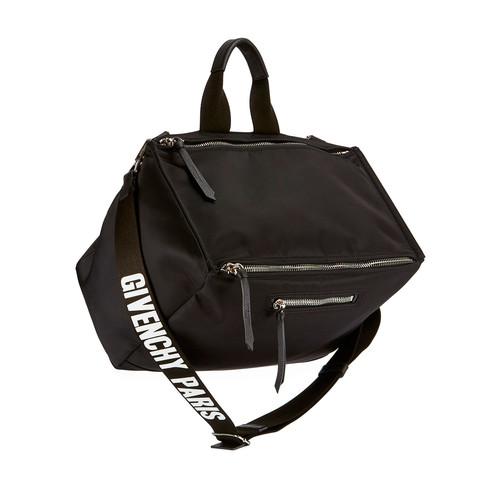 GIVENCHY Men'S Pandora Nylon Crossbody Bag, Black