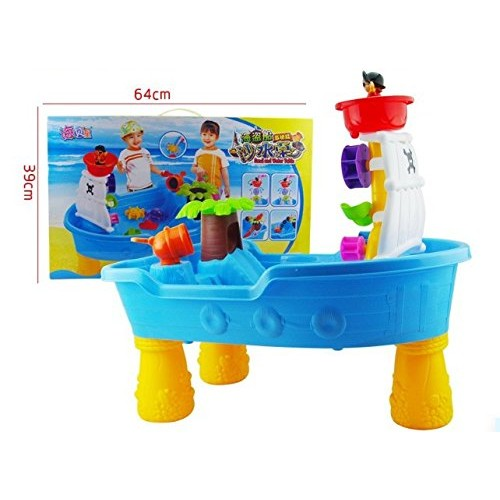 Pirate sand toy water table plastic children baby sea summer Children's educational toys hourglass play sand splashingd windmill