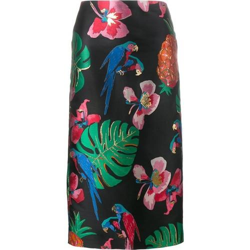 VALENTINO Tropical Dream Jacquard Skirt