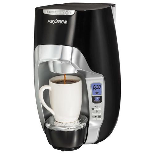 Hamilton Beach - FlexBrew 1-Cup Coffeemaker - Black/Silver