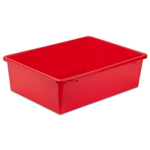 Honey-Can-Do PRT-SRT1602-LGRED Plastic Storage Bin, Large, Red [Red, Large]