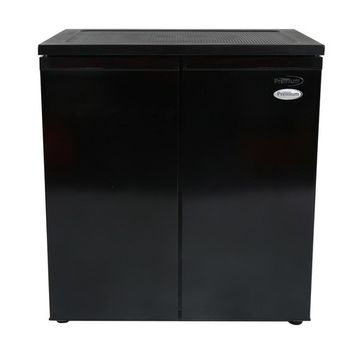 PREMIUM 31 in. W 5.5 cu. ft. Side by Side Mini Refrigerator in Black