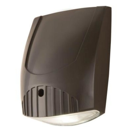 All-Pro Bronze Integrated LED Outdoor Wall Pack Light with 1000 Lumens, 5000K Daylight