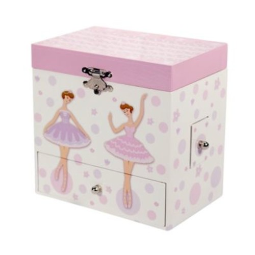 Mele & Co. Jolie Girl's Musical Ballerina Jewelry Box in White