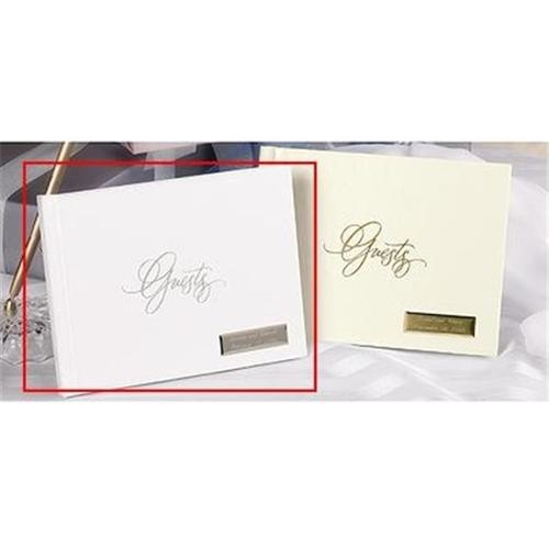 Hortense B. Hewitt 11002 White Foil Guest Book