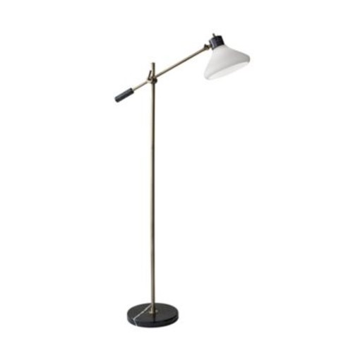 Adesso Astor 61-Inch Floor Lamp in Antique Brass