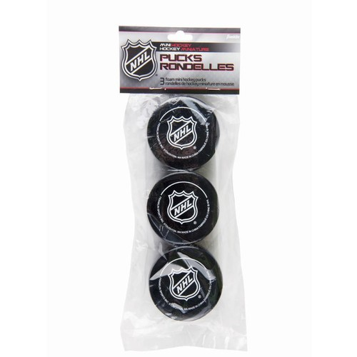 Franklin Sports NHL Foam Mini Hockey Pucks-3 Pack