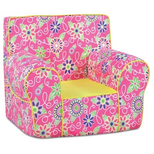 Grab-N-Go Foam Chair With Handle - Daisy Doodle With Sunshine Pink & Yellow - Kangaroo Trading Co.