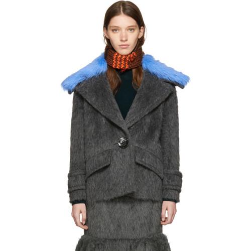 PRADA Grey Alpaca Coat