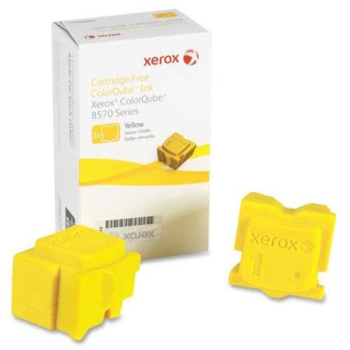 Xerox 108R00928 Yellow ColorQube Ink, 2Sticks, 4400Page 108R00928