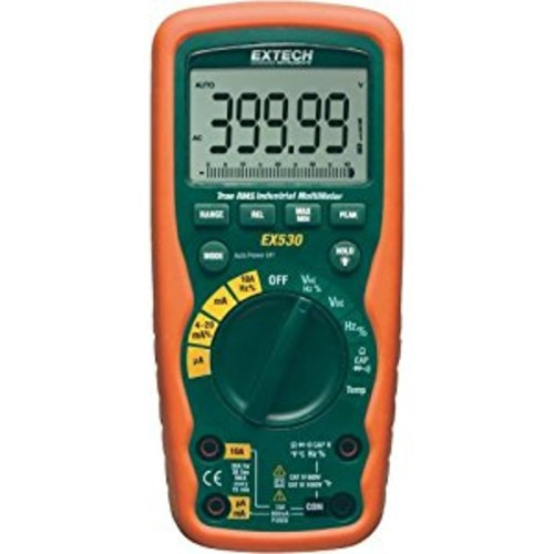 Extech EX530 True RMS Heavy Duty Industrial MultiMeter [Standard, True RMS | 40000 Count]